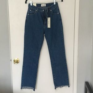 Rollas High Rise Straight Blue Jean 25